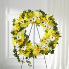 The FTD Golden Remembrance Wreath from Flowers by Ramon of Lawton, OK